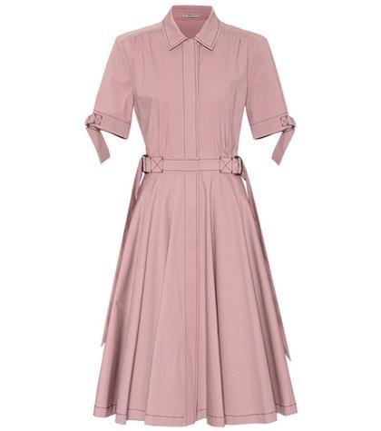 Bottega Veneta Pleated Cotton Dress