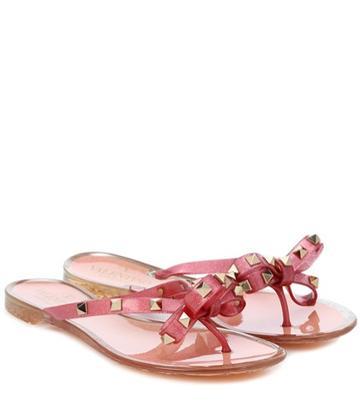 Le Specs Valentino Garavani Rockstud Leather Sandals