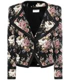 Saint Laurent Wool-blend Jacquard Cropped Jacket