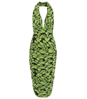 Norma Kamali Halter Stretch Jersey Dress