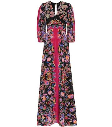 Etro Sequined Paisley Silk Dress