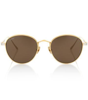 Cartier Eyewear Collection C De Cartier Round Sunglasses