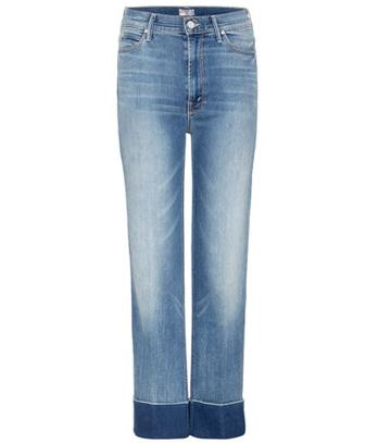 Gianvito Rossi The Maverick Cuff High-rise Cropped Jeans