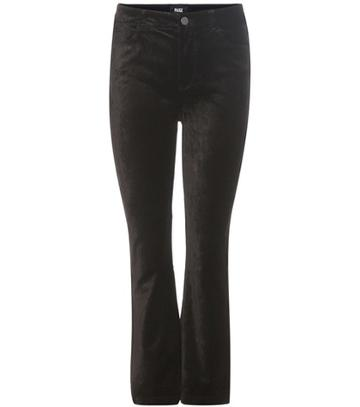 Acne Studios Colette Crop Flare Velvet Trousers