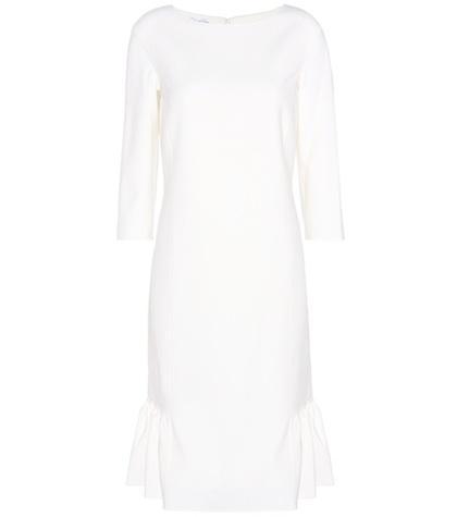 Oscar De La Renta Wool Crêpe Dress