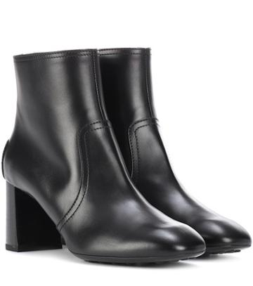 Versace Leather Ankle Boots