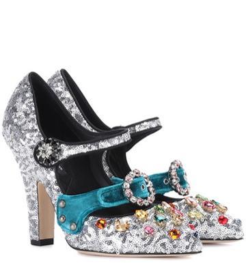 Dolce & Gabbana Embellished Sequinned Pumps