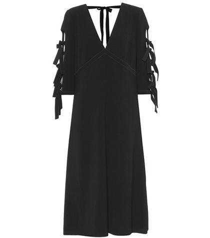Bottega Veneta Bow-adorned Crêpe Dress