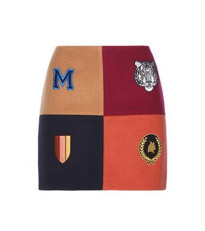 Stella Mccartney Embellished Wool-blend Miniskirt
