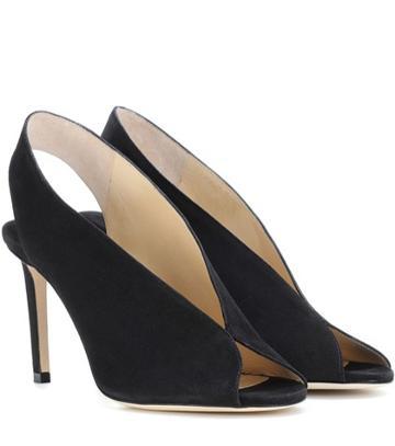 Jimmy Choo Shar 85 Suede Sandals