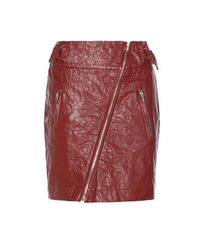 Tom Ford Breezy Faux Leather Miniskirt