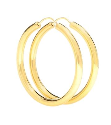 Theodora Warre Gypsy Large Gold-plated Hoop Earrings