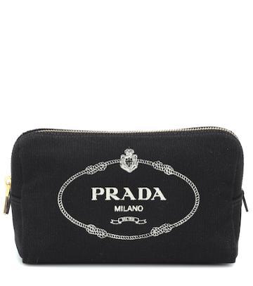 Prada Logo Canvas Cosmetics Case