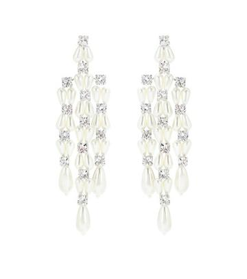Victoria Beckham Crystal And Faux-pearl Earrings