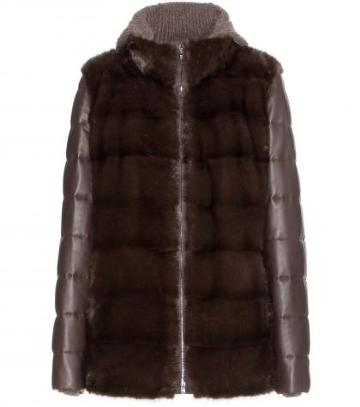 Loro Piana Joyce Mink Fur And Leather Jacket