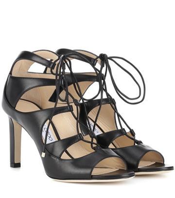 Jimmy Choo Blake 85 Leather Sandals