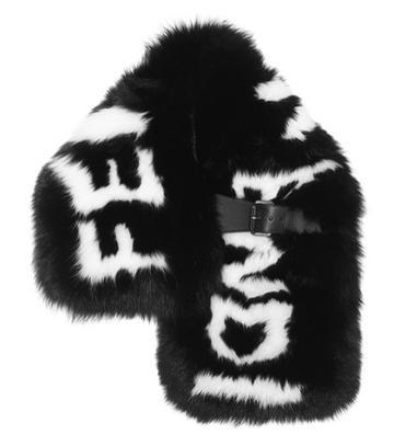 Roksanda Fur Stole With Buckle