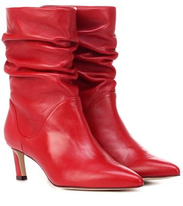 Alexander Mcqueen Demibenatar Leather Ankle Boots