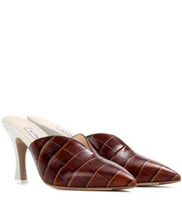 Attico Monica Leather Mules