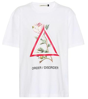 S Max Mara Printed Cotton T-shirt