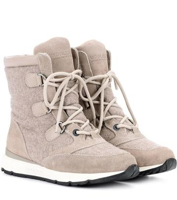 Woolrich Suede-trimmed Felt Ankle Boots