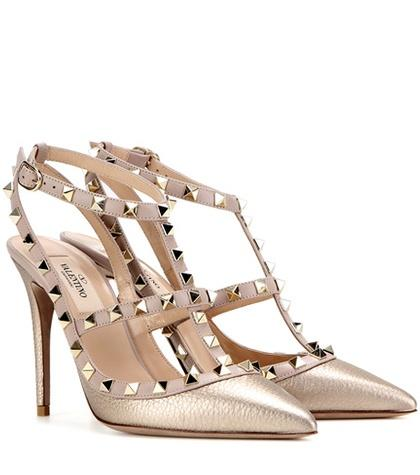 A.p.c. Valentino Garavani Rockstud Metallic Leather Pumps