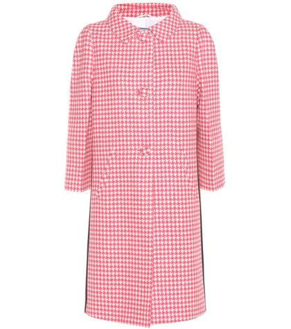 Prada Houndstooth Virgin Wool Coat