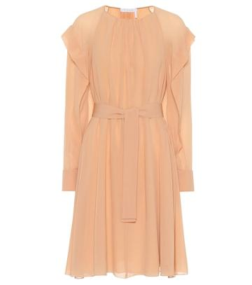 Chlo Belted Silk Dress