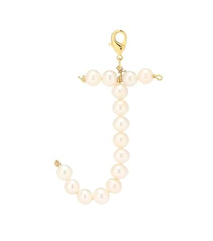 Timeless Pearly Letter J Pearl-embellished Charm