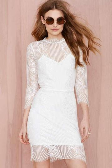 For Love & Lemons For Love And Lemons Rosette Lace Dress