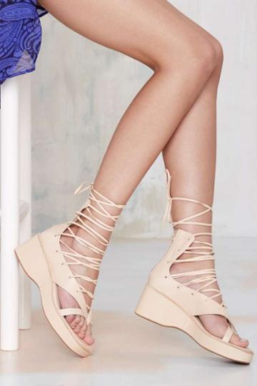 Jeffrey Campbell Emilie Geisha Wrap Sandal