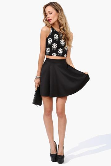 Necessary Clothing - Rad Skater Skirt - Black