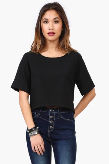 Necessary Clothing - Clean Crop Top - Black
