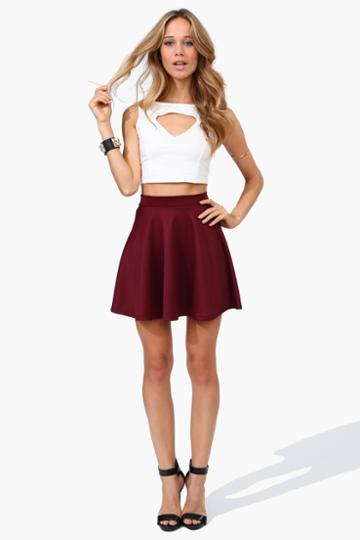 Necessary Clothing - Rad Skater Skirt - Burgundy