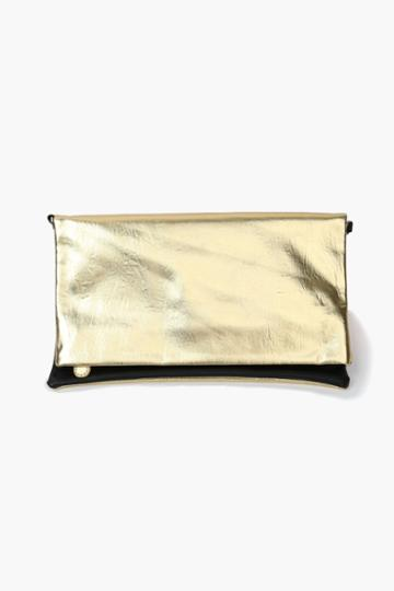 Necessary Clothing - Reverse It Clutch - Gold/black