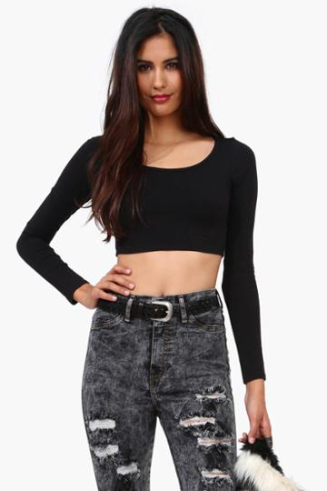 Necessary Clothing - Good Ridence Crop Top - Black