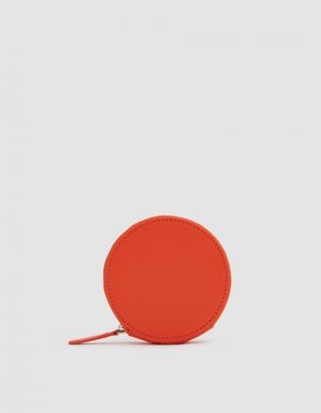 Baggu Circle Wallet In Warm Red