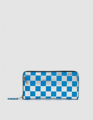 Comme Des Gar Ons Wallet Optical Leather Line Sa110gb Wallet In Blue