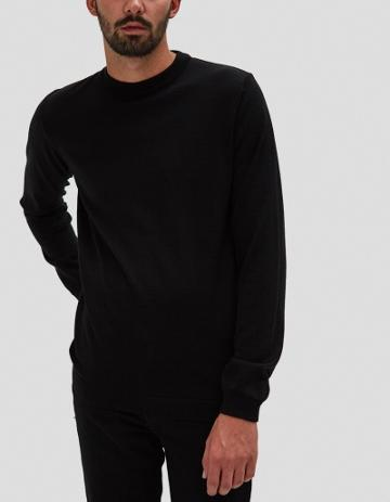 Norse Projects Sigfred Merino Sweater In Black