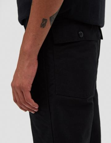 Engineered Garments Fatigue Cotton Double Cloth Pant In Black