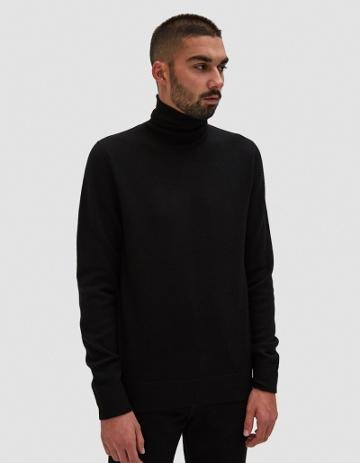 Norse Projects Marius Boiled Wool Sweater In Black