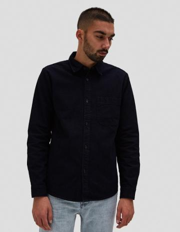A.p.c. Trek Overshirt In Indigo