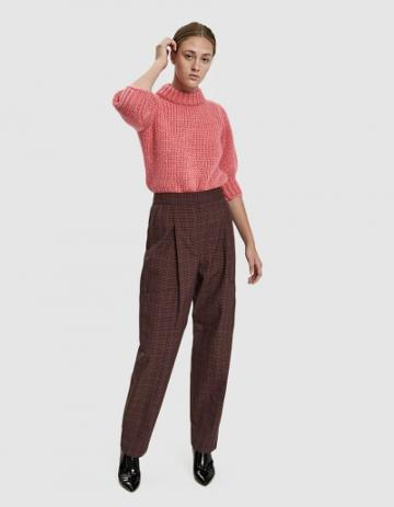 Tibi Tech Check Cargo Pants