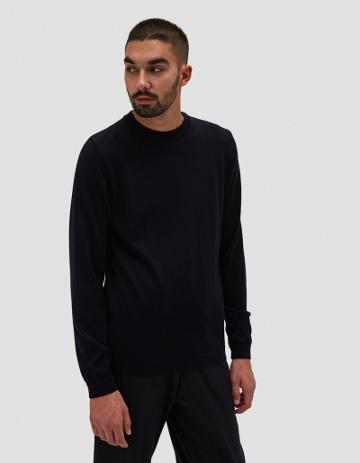 Norse Projects Sigfred Merino Sweater In Navy