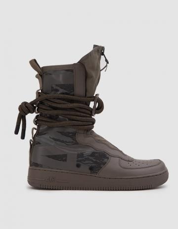 Nike Sf Air Force 1 Hi Boot In Ridgerock/black