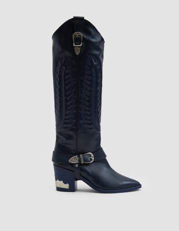 Toga Pulla Western Boot In Blue Grey