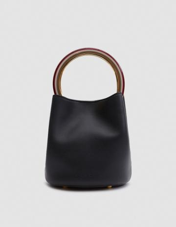 Marni Shoulder Bag In Black/raisin