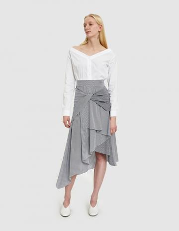 Need Twist Skirt In Navy/white