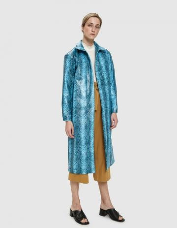 Collina Strada Mechanic Faux Snakeskin Trench