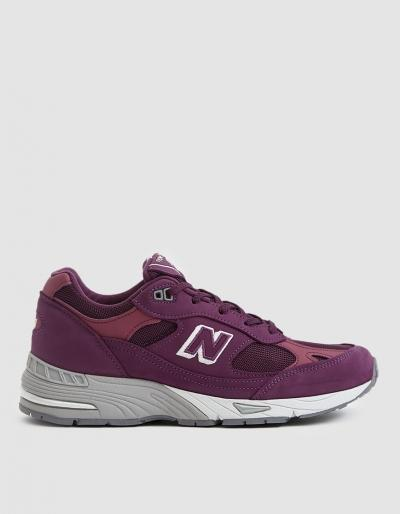 New Balance 991 Sneaker In Boysenberry / Grey